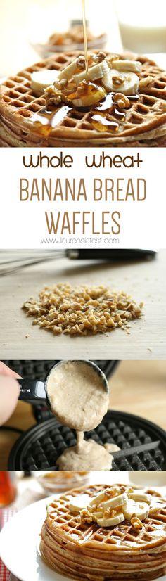Whole Wheat Banana Bread Waffles