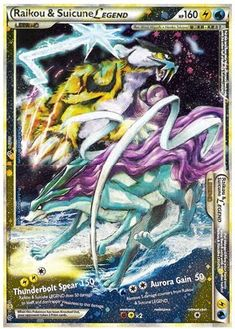Legend Pokemon Cards | Pokemon Card of the Day: Raikou & Suicune Legend (Unleashed ...