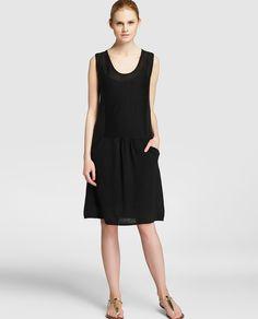 fec853552fd Vestido de lino de mujer Sita Murt en negro … Vestidos De Lino