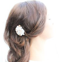 Hair Comb Rose Hair Accessories Ivory Cream by #apocketofposies