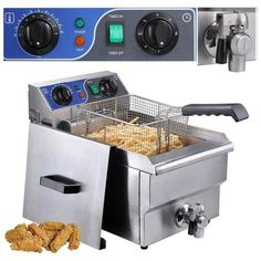 Best Kitchen Faucet | Commercial Professional Electric 10L Deep Fryer Timer and Drain Stainless Steel French Fry Restaurant Kitchen by Yescom >>> Be sure to check out this awesome product.(It is Amazon affiliate link) #summer