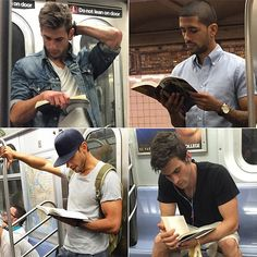 My hubs is a hot dude reading on the subway. Guys Read, How To Read People, Chica Cool, Books For Boys, Book Nerd, Hot Boys, Cute Guys, Book Lovers, Book Worms