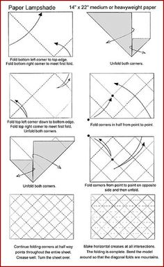 Lamparas y pantallas - Pantalla origami tubular Porton Artesano