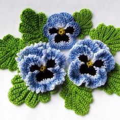 Irish crochet flower pattern pdf pansy photo tutorial spring flower bouquet applique or brooch Crochet pansies tutorial watch the video now – Artofit Could be a nice corsage with soft scarf – Artofit Crochet the Giant Rose Step by crochet 3 d flower w Crochet Puff Flower, Crochet Dollies, Crochet Flower Patterns, Crochet Motif, Irish Crochet, Crochet Flowers, Knitting Patterns, Crochet Flower Tutorial, Crochet Ideas