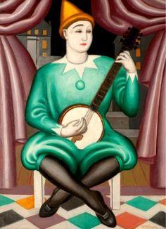 Clown au banjo, 1924 - Jean Metzinger