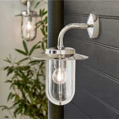 A timeless and quality outdoor wall light in polished nickel and glass, beautifully complimenting both traditional and contemporary exteriors. Outdoor Wall Lighting, Exterior Lighting, Tea Lights, Wall Lights, House Front, Front Porch, Polished Nickel, Contemporary Style, Clear Glass