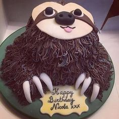 Image result for sloth birthday cake
