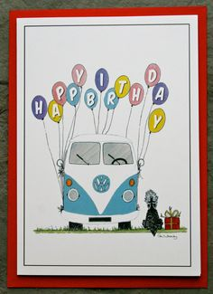 vw camper/kombi greetings cards by AudreysAdventures on Etsy, $2.50