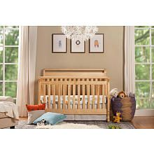 Emily 4in1 Convertible Crib with Toddler Rail  Natural