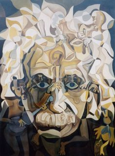 "Artist Paul N. Grech attempts to paint people as tangible extensions of a living, breathing environment. In his aptly-titled painting below, ""Beethoven"", he Optical Illusion Paintings, Art Optical, Cool Illusions, Optical Illusions, Illusion Art, Psychedelic Art, Surreal Art, Op Art, Einstein"