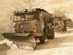 Retro Cars, Vintage Cars, Heavy Duty Trucks, Bus Coach, Snow Plow, Old Trucks, Vehicles, Outdoor, Prague