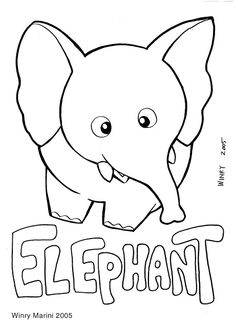 Art and Lore: Elephant Coloring Page