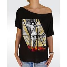 W90 JIM MORRISON T-shirt Women's Batwing Tunic T-shirt Available in 2 colours