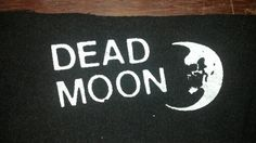 DEAD MOON Punk Patch on Black Canvas by BADTASTECLUB on Etsy, $2.00