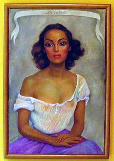 Beautiful portrait of Dolores by Diego Rivera.