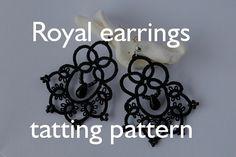 PDF Royal earrings  tatting pattern by by littleblacklace on Etsy, $3.50