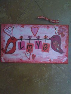 Love birds Valentines Sign