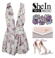 """""""SheIn"""" by fashiondiary5 ❤ liked on Polyvore featuring GUESS, Anzie, Sheinside and shein"""