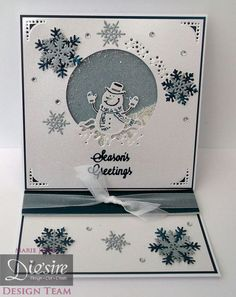 Easel Shaker card made with Crafter's Companion Die'sire Edge'able Die – Mr Snowman. Designed by Marie Jones #crafterscompanion
