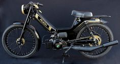 Puch Maxi - black out Puch Moped, Moped Motorcycle, Custom Moped, Scrambler Custom, Puch Maxi S, Peugeot, Vintage Moped, Small Motorcycles, Honda Cub