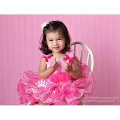 Pink Princess Birthday Cupcake Tutu Outfit ~ This amazing tutu features eight layers of alternating hot pink and light pink tulle.