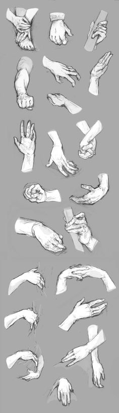 Hand References by NimeniCanine on DeviantArt Hand Reference, Figure Drawing Reference, Anatomy Reference, Daily Drawing, Drawing Skills, Drawing Studies, Learn To Sketch, Poses References, Hand Sketch