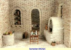 Sumer: The original Black civili-zation of Iraq. Kitchen, average Sumerian house