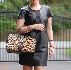 Diane Von Furstenberg leather dress