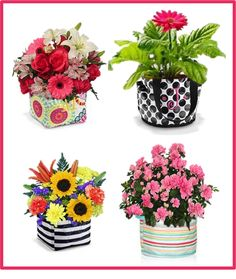 A new kind of vase!  Thirty-One Gifts - Think outside the vase! Littles Carry All $12, Round About Caddy $25, Cinch Top Bin $25.