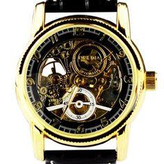 Orkina Herren-Armbanduhr Leder Schwarz mechanisches Quarzuhrwerk mit Tourbillon MG016BB - http://autowerkzeugekaufen.de/orkina/orkina-herren-armbanduhr-leder-schwarz-mit