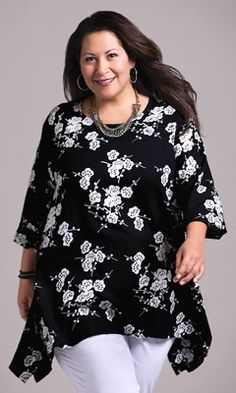 Plus Size Tops - NEVE BLOUSE - Plus and Super Plus Size Clothes for Women