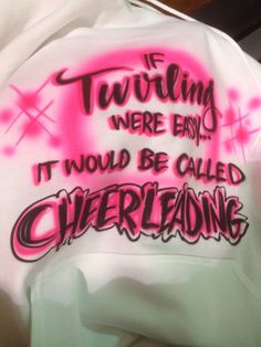 no offense to the cheerleaders, cheering is hard too! but I thought this was funny! cheerleaders don't get offended.