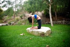 Camel Pose on the rock » Yoga Pose Weekly