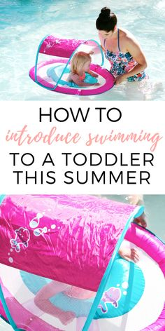 If you're going swimming with kids this summer and your toddler doesn't know how to swim, the @swimways baby float is a great option! #ad Read more about this awesome baby float in the post! #SwimWays #BabySpringFloat #SpringFloat #FloatWithSwimWays #IC