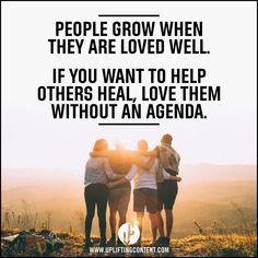 LIKE if you love others with no strings attached.