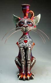 Image result for Dia del los muertos cats