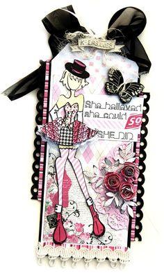 Priscilla Doll Tag - Julie Nutting Prima - Scrapbook.com