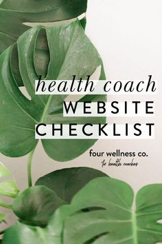 HEALTH COACH WEBSITE CHECKLIST - grab our free checklist for optimizing your website to convert users into paid customers and clients for your wellness business. Four Wellness Co. | Squarespace Website Design | Web Design | Health Coaching Business Tips | Online Marketing Tips | Coaching Tips Digital Marketing Strategy, Online Marketing, Coach Website, Dream Career, Tips Online, Online Coaching, Business Inspiration, Design Web, Health Coach