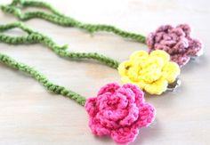 Crochet Pacifier Clips ~ Flowers Hipster Babys Line www.hipsterrow.com