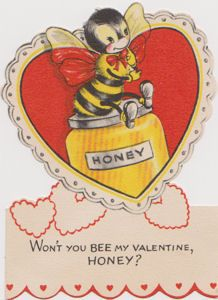 Vintage valentine. Remember when every one in the box was different? What a chore to decide who received each one!