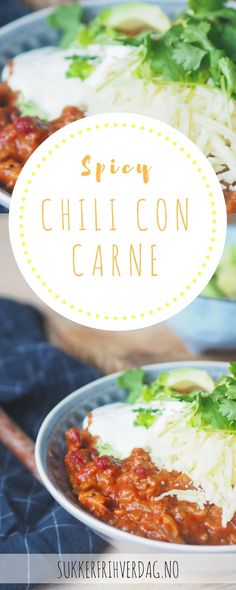 Würziges Chili con Carne - Famous Last Words Spicy Chili, Small Meals, Curry, Food And Drink, Pasta, Snacks, Dinner, Ethnic Recipes, Meal Recipes