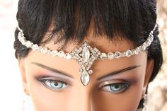 Gorgeous Bridal Head Circlet/ Head Piece by LalleBridalJewelry