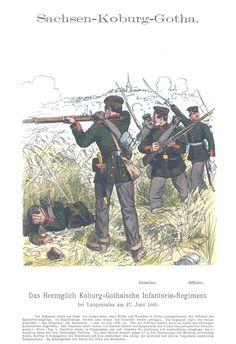 Band IX #48 - Sachsen-Coburg-Gotha. Herzoglich Coburg-Gothaisches Infanterie-Regiment bei Langensalza am 27. Juni 1866.