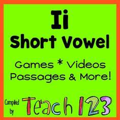 Short vowel - Oo: games, videos, fluency passages, and more! Short Vowel Games, Short Vowels, Phonics Activities, Language Activities, Phonological Awareness, Teacher Hacks, Word Work, Teaching Tips, Guided Reading