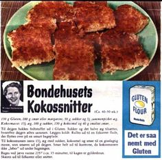 Bondehusets kokossnitter I Love Food, Good Food, Denmark Food, Danish Food, Baking With Kids, Sweets Cake, Dinner Is Served, Sweet Bread, Cakes And More