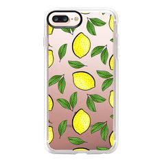 Lemon Love - iPhone 7 Plus Case And Cover (€36) ❤ liked on Polyvore featuring accessories, tech accessories, iphone case, phone cases, iphone cover case, apple iphone case, iphone cases and clear iphone case