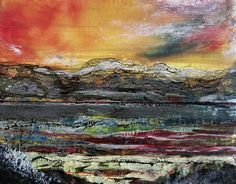 Arenig, Encaustic Wales Uk, Encaustic Painting, Trail, Mixed Media, Wax, Layers, Texture, Landscape, Studio