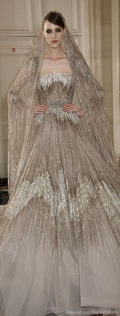 Elie Saab Haute Couture | F/W 2013- what I really love here is the veil!