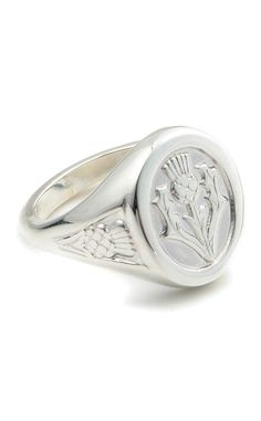 Thistle Ring - by Scotweb Tartan Mill Key Jewelry, Jewelry Rings, Jewelry Accessories, Jewellery, Irish Rings, Scottish Fashion, Rings N Things, Scottish Thistle, Bling