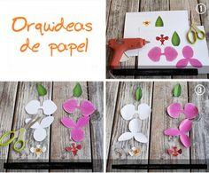 Como fazer lindas orquídeas phalaenopsis de papel. É muito fácil. Basta imprimir o modelo no link Moldee mãos a obra. De preferência a papéis mais rígidos como cartolina por exemplo. Recort…